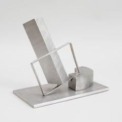 1969 Israeli Abstract Sculpture Stainless Steel Menashe Kadishman Suspension