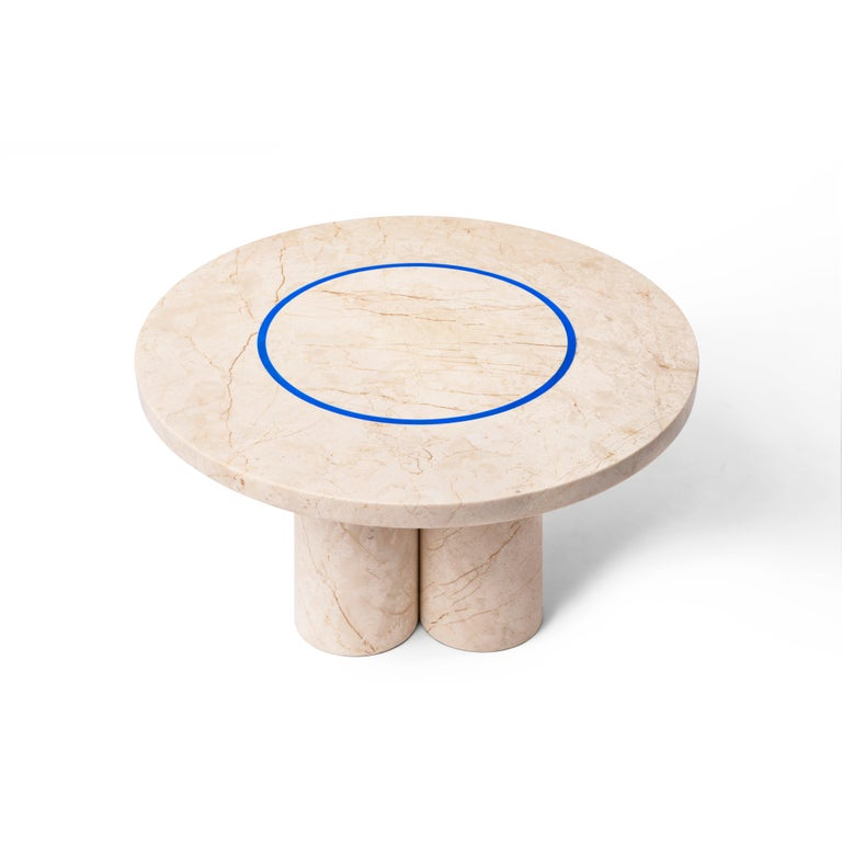 Contemporary Menes Gold Marble Coffee Table from Dislocation by Studio Buzao For Sale