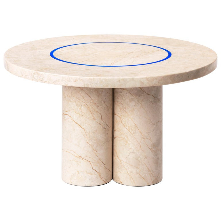 Menes Gold Marble Coffee Table from Dislocation by Studio Buzao For Sale