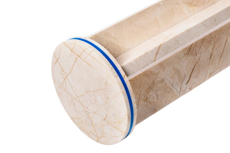 Menes Gold Marble Round Side Table from Dislocation by Studio Buzao For Sale 4