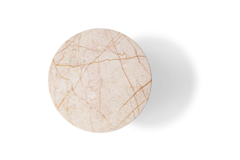 Menes Gold Marble Round Side Table from Dislocation by Studio Buzao For Sale 2