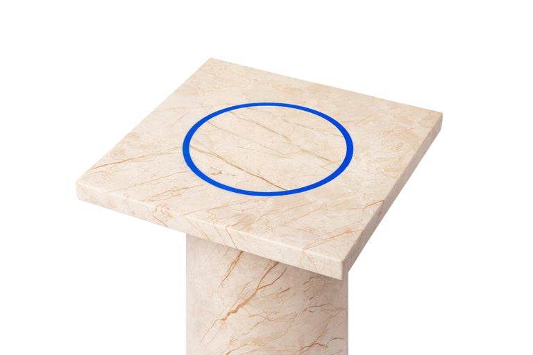 Menes Gold Square Side Table from Dislocation by Studio Buzao For Sale 4