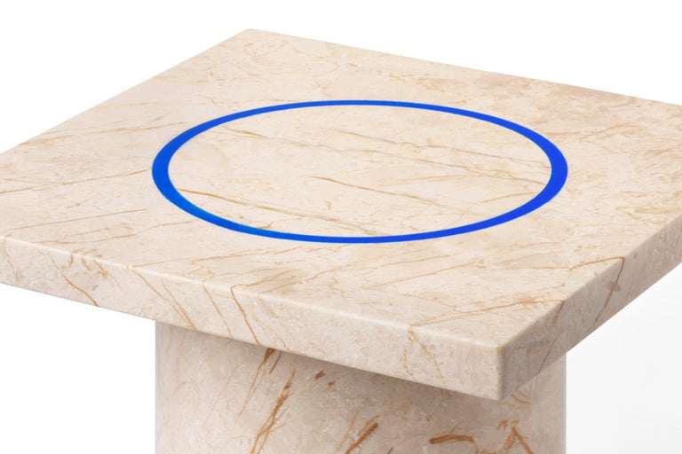 Menes Gold Square Side Table from Dislocation by Studio Buzao For Sale 5