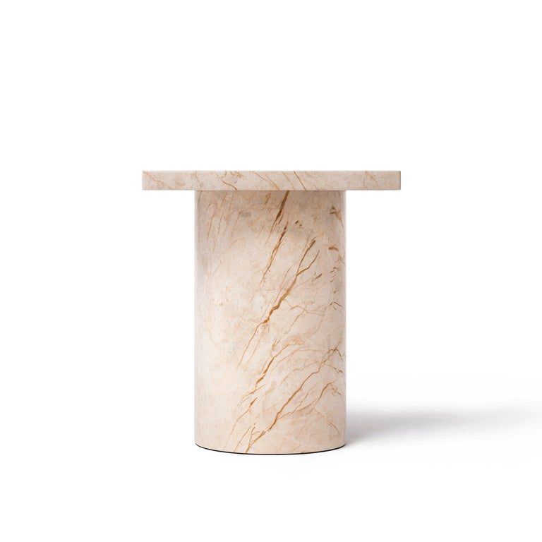 Chinese Menes Gold Square Side Table from Dislocation by Studio Buzao For Sale