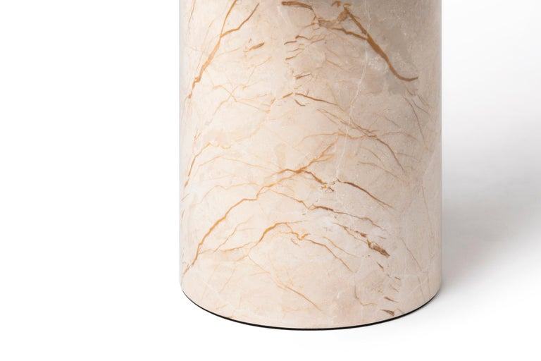 Contemporary Menes Gold Square Side Table from Dislocation by Studio Buzao For Sale