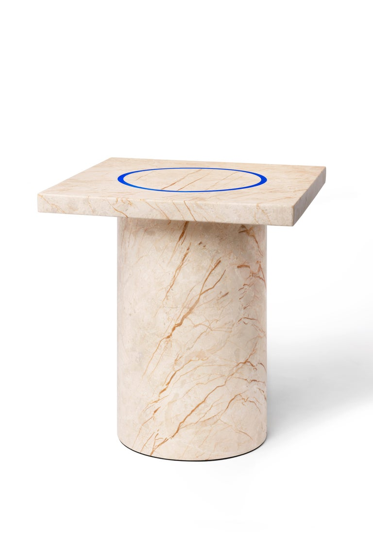 Menes Gold Square Side Table from Dislocation by Studio Buzao For Sale 1