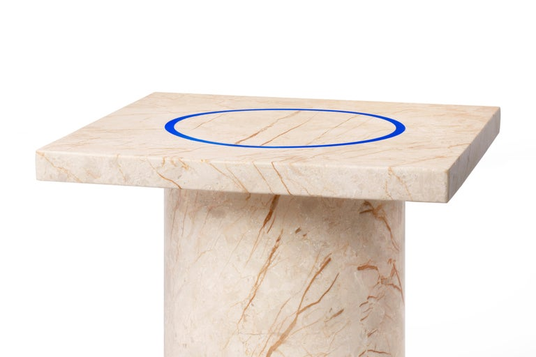 Menes Gold Square Side Table from Dislocation by Studio Buzao For Sale 3