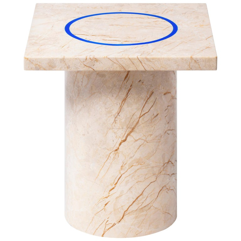 Menes Gold Square Side Table from Dislocation by Studio Buzao For Sale