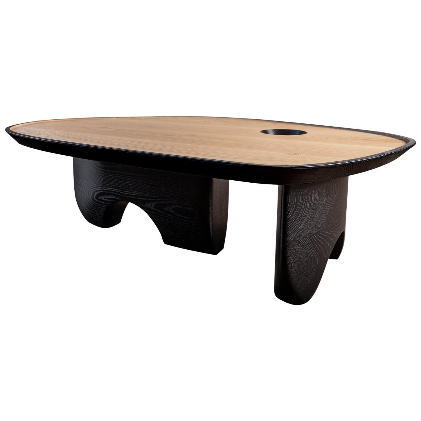 Menhir organic design Coffee Table, customisable design by Toad Gallery London