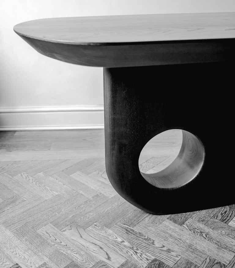 Hand finished - Menhir Sculptural Dining Table Designed by Toad Gallery London For Sale 2
