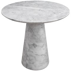 Menhir White Marble Small Side Table