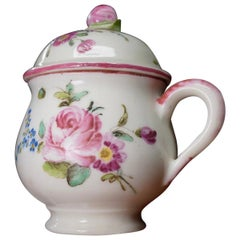 Mennecy Custard Cup and Cover, Flowers, circa 1760