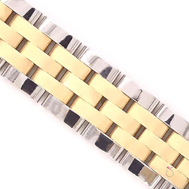 Women's or Men's Men's 14 Karat Gold Two-Tone Jubilee Bracelet For Sale