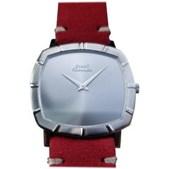 Men's 18 Karat White Gold Piaget cal.12P1 Automatic Dress Watch Swiss LV861RED