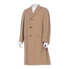 Mens 1940's 1950's Bespoke Chester Barrie Wool Gabardine Overcoat