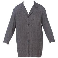 1950S Dark Grey Cotton Melange Men's European Made Workwear Jacket