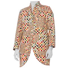 Mens 1990's OP-Art Colorful Blazer