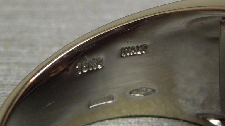 Men's 4 Carat Salmon Tourmaline European 18 Karat Ring For Sale 7