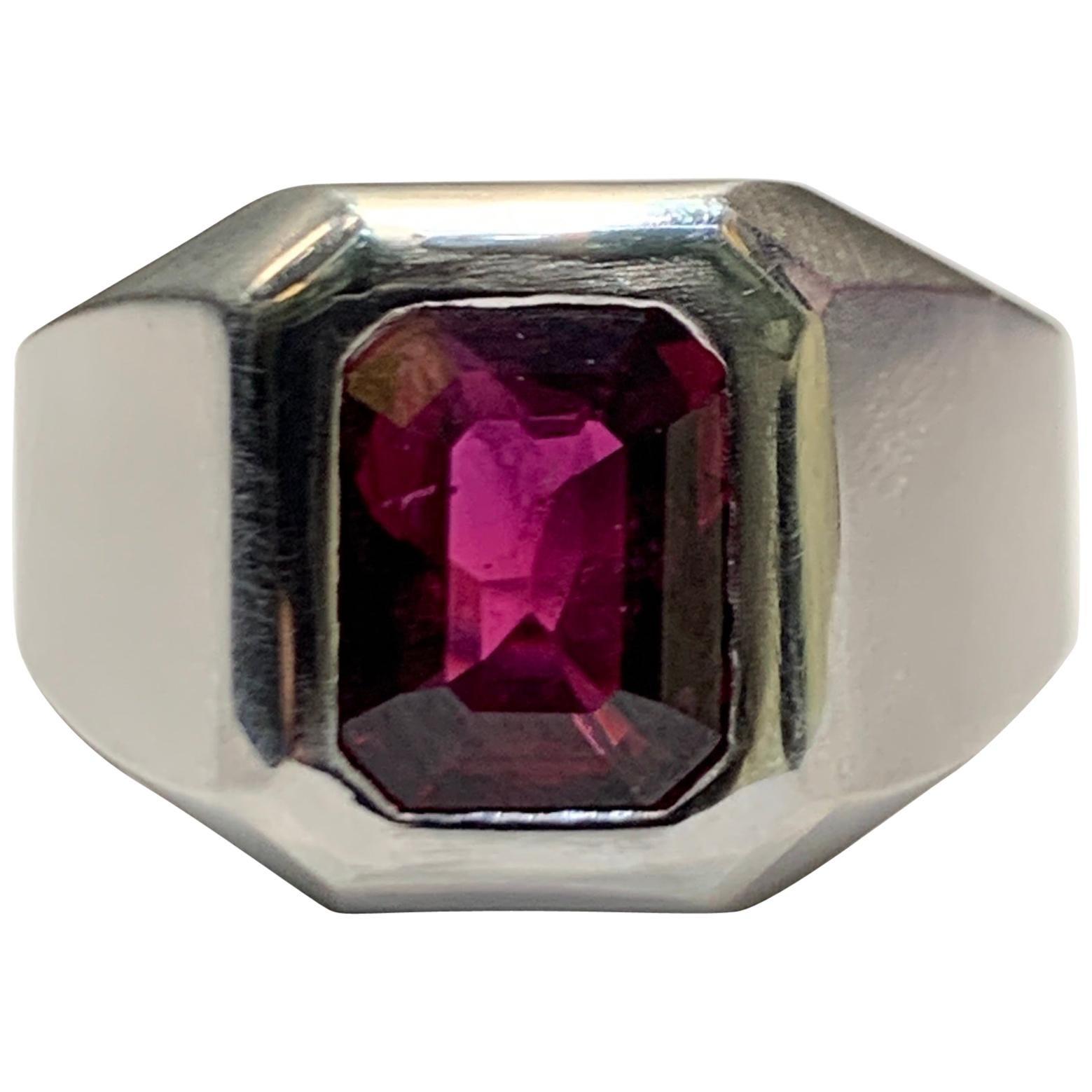 Men's AGL Certified Ruby Ring
