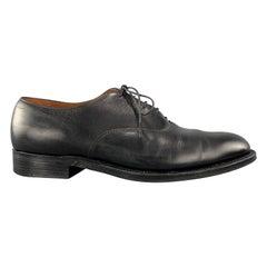 Men's ALDEN Size 7.5 Black Leather Lace Up Dress Shoes