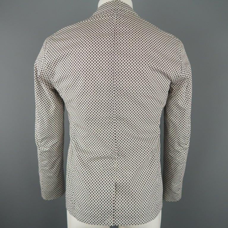 Men's ALEXANDER MCQUEEN 34 White Black & Red Skull Spot Print Cotton Sport Coat For Sale 1
