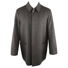 Men's ALLEGRI 38 Charcoal Heather Wool / Cashmere Car Coat