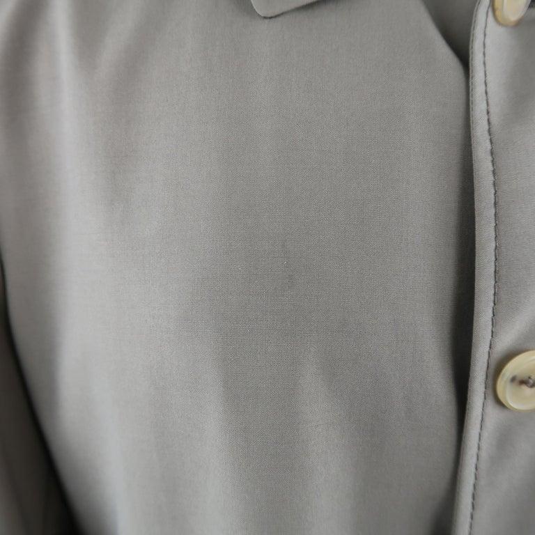 Brown Men's ALLEGRI 40 Dark Khaki Light Weight Wool Blend Car Coat For Sale