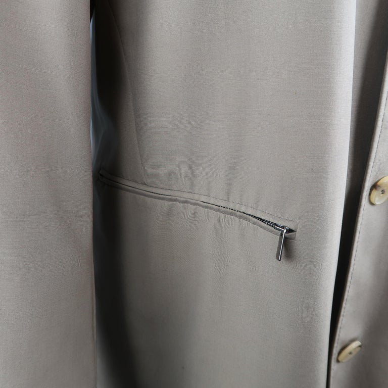 Men's ALLEGRI 40 Dark Khaki Light Weight Wool Blend Car Coat For Sale 1