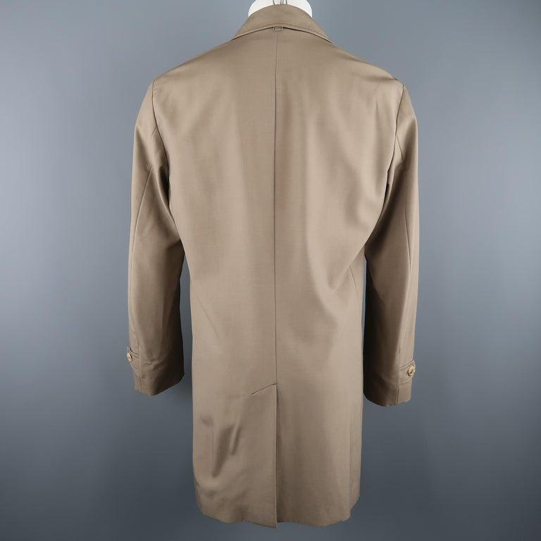 Men's ALLEGRI 40 Dark Khaki Light Weight Wool Blend Car Coat For Sale 3
