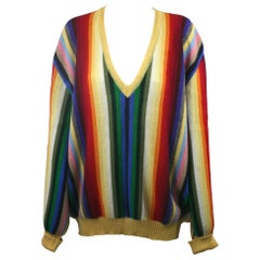 Mens Alpaca Rainbow Sweater