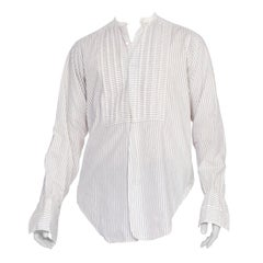 Mens Antique 1910's 1920's Collar-less Shirt