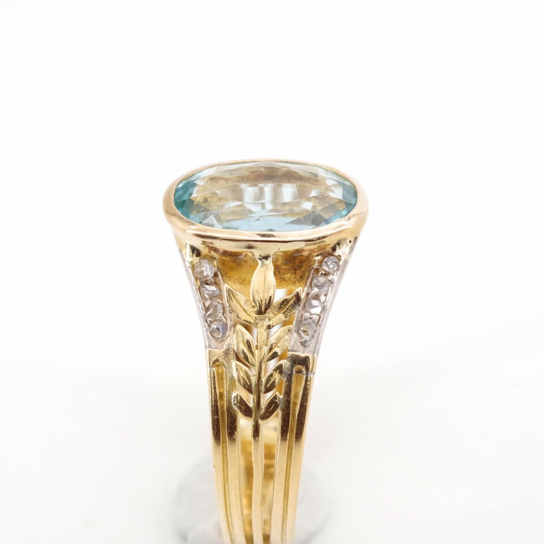 Aquamarine Ring from France, circa 1910 For Sale 1