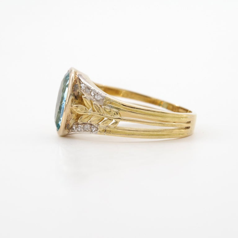 Aquamarine Ring from France, circa 1910 For Sale 5