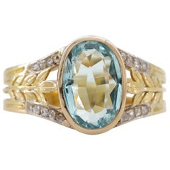 Aquamarine Ring from France, circa 1910