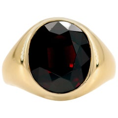 Men's Art Deco Garnet Ring is a Masterpiece of Understatement