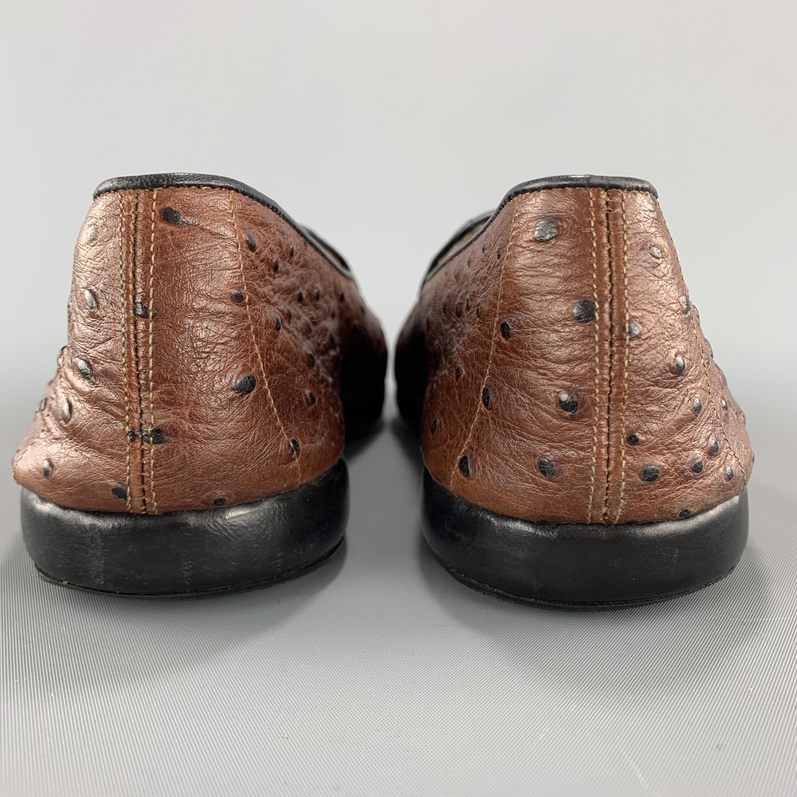 Men's BELGIAN SHOES Size 10 Brown
