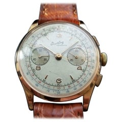 Men's Breitling 18 Karat Gold Cadette Chronograph 1188 Hand-Wind, Swiss LV709