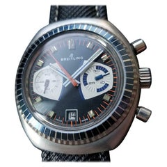 Men's Breitling Datora Manual Chronograph with Date, Swiss Vintage LV456BLK