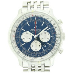 Men's Breitling Navitimer 1 B01 Aurora Blue Automatic Chronograph Watch AB0127