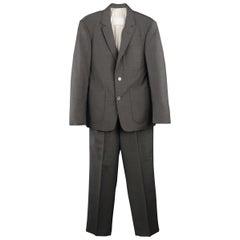 Men's BROOKS BROTHERS 36 Short Charcoal Wool / Mohair Notch Lapel Suit