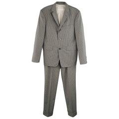 Men's BROOKS BROTHERS 38 Dark Gray Plaid Wool Notch Lapel Suit