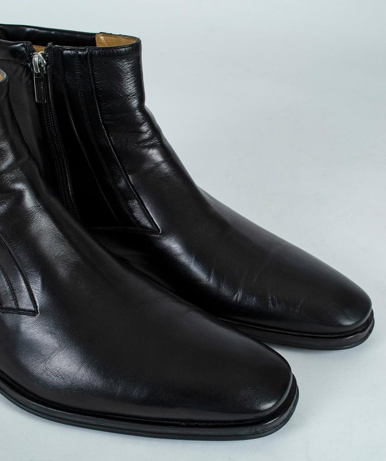 Men's Bruno Magli Raspino Leather Chelsea Boot, 21st Century In Good Condition For Sale In Tucson, AZ