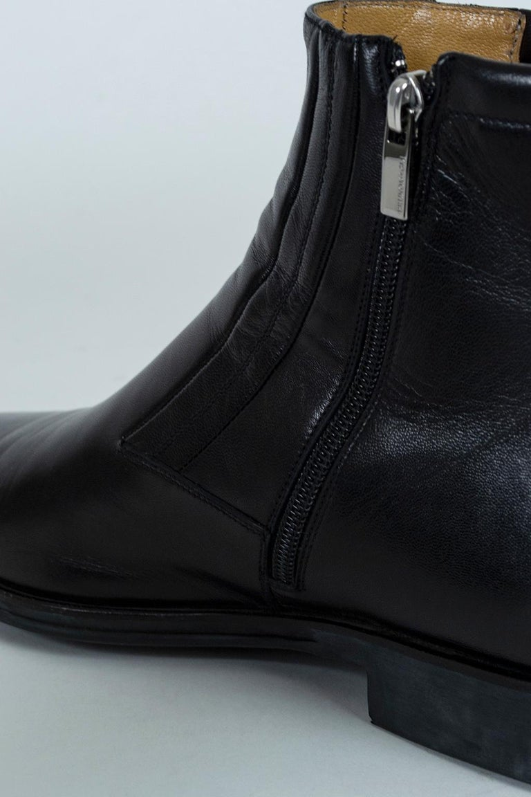 Men's Bruno Magli Raspino Leather Chelsea Boot, 21st Century For Sale 2