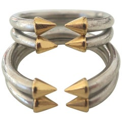Men's Bulgari Platinum Stacking Rings, circa 1970