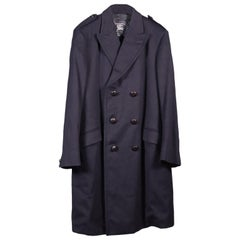 Men's Burberrys' Coat Blue Wool, England