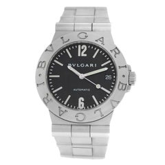 Men's Bvlgari Diagono Stainless Steel Date Automatic Watch