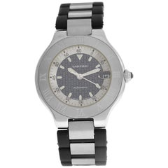 Men's Cartier 2427 Autoscaph Steel Date Automatic Watch