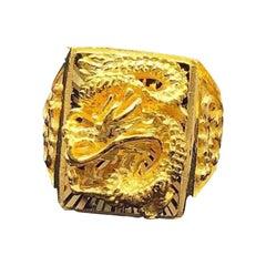 Men's Chinese Dragon 24 Karat Ring