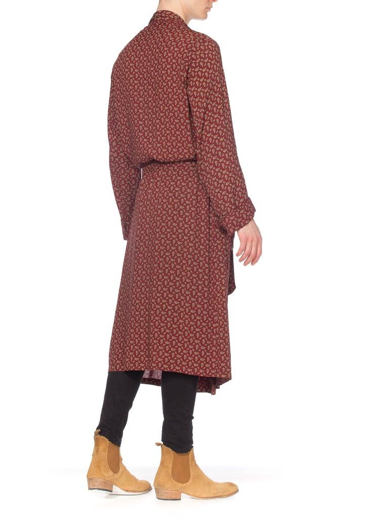 e999e75411 Mens Christian Dior Silk Robe In Good Condition For Sale In New York