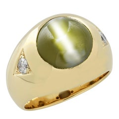 Men's Chrysoberyl Cats Eye Ring